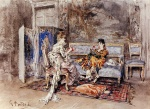 Giovanni Boldini  - Bilder Gemälde - The Conversation