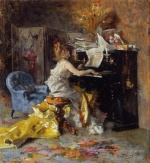 Giovanni Boldini  - Bilder Gemälde - Women at a Piano