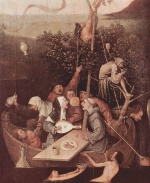 Hieronymus Bosch - paintings - The Ship of Fools
