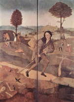 Hieronymus Bosch - paintings - The Path of Life, outer wings of a triptych