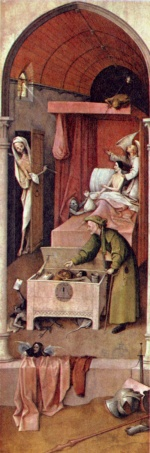 Hieronymus Bosch - paintings - Death and the Miser