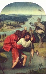 Hieronymus Bosch - paintings - St Christopher