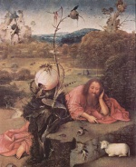 Hieronymus Bosch - paintings - St John the Baptist in the Wilderness