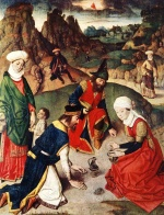 Dieric Bouts - paintings - The Gathering of the Manna