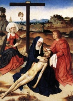 Dieric Bouts - paintings - The Lamentation of Christ