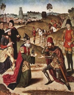 Dieric Bouts - paintings - The Meeting of Abraham and Melchizedek