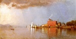 Alfred Thompson Bricher - Bilder Gemälde - Along the Hudson