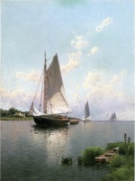 Alfred Thompson Bricher - Bilder Gemälde - Blue Point Long Island