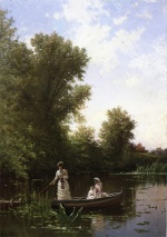 Alfred Thompson Bricher - Bilder Gemälde - Boating in the Afternoon