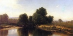 Alfred Thompson Bricher - Bilder Gemälde - Cattle by the River