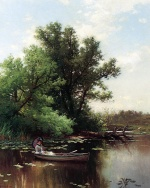 Alfred Thompson Bricher - paintings - Drifting