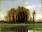Alfred Thompson Bricher - paintings - Landscape with Water
