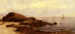 Alfred Thompson Bricher - Bilder Gemälde - Low Tide Baileys Island Maine