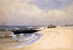 Alfred Thompson Bricher - paintings - Low Tide