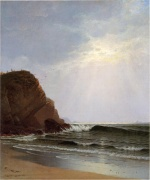 Alfred Thompson Bricher - paintings - Otter Cliffs Mount Desert Island Maine