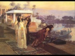 Frederick Arthur Bridgman - Bilder Gemälde - Cleopatra on the Terrace of Philae