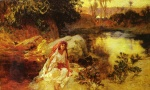 Frederick Arthur Bridgman - Bilder Gemälde - At the Oasisk