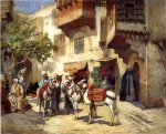 Frederick Arthur Bridgman - Bilder Gemälde - Marketplace in North Africa