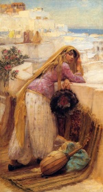 Frederick Arthur Bridgman - Bilder Gemälde - On the Terrace