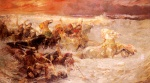 Frederick Arthur Bridgman - Bilder Gemälde - Pharaohs Army Engulfed by the Red Sea