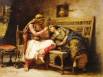 Frederick Arthur Bridgman - Bilder Gemälde - Queen of the Brigands