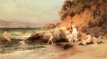 Frederick Arthur Bridgman - Bilder Gemälde - The Bathing Beauties