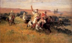 Frederick Arthur Bridgman - Bilder Gemälde - The Falcon Hunt