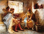 Frederick Arthur Bridgman - Bilder Gemälde - The Game of Chance