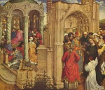 Robert Campin - paintings - The Mirrage of Mary