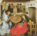 Robert Campin - paintings - Annunciation