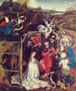 Robert Campin - paintings - The Nativity