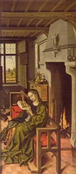 Robert Campin - paintings - The Werl Altarpiece ( right wing )