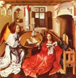 Robert Campin - paintings - Mérode Altarpiece ( Navity )