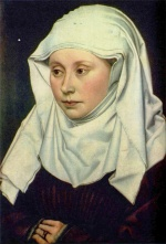 Robert Campin - paintings - Portrait of a Woman