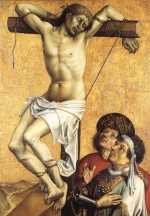Robert Campin - paintings - The Crucified Thief