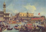 Canaletto - paintings - The Bucintoro Returning to the Molo on Ascension Day