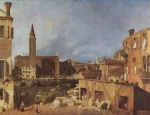Canaletto - paintings - The Stonemasons Yard