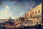 Canaletto - paintings - Arrival of the French Ambassador in Venice