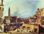 Canaletto - paintings - Stonemasons Yard