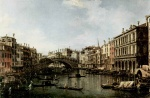 Canaletto - paintings - The Rialto Bridge from the South
