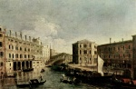 Canaletto - paintings - Il Canale Grande a Rialto