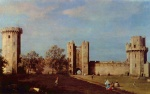 Canaletto - paintings - Innenhof des Schlosses von Warwick