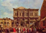 Canaletto - paintings - The Feast Day of St Roch