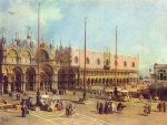 Canaletto - paintings - Piazza San Marco, Looking Southeast