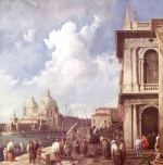 Canaletto - paintings - Piazetta in Venedig