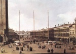 Canaletto - paintings - Piazza San Marco, Looking toward San Geminiano