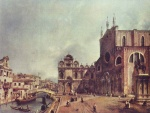 Canaletto - paintings - Santi Giovanni e Paolo and the Scuola di San Marco