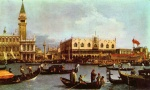 Canaletto - paintings - Return of the Bucentaurn to the Molo on Ascension Day