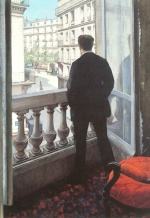 Gustave Caillebotte - Bilder Gemälde - A Young Man at his Window