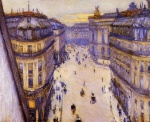 Gustave Caillebotte - Bilder Gemälde - Rue Halevy seen from the Sixth Floor